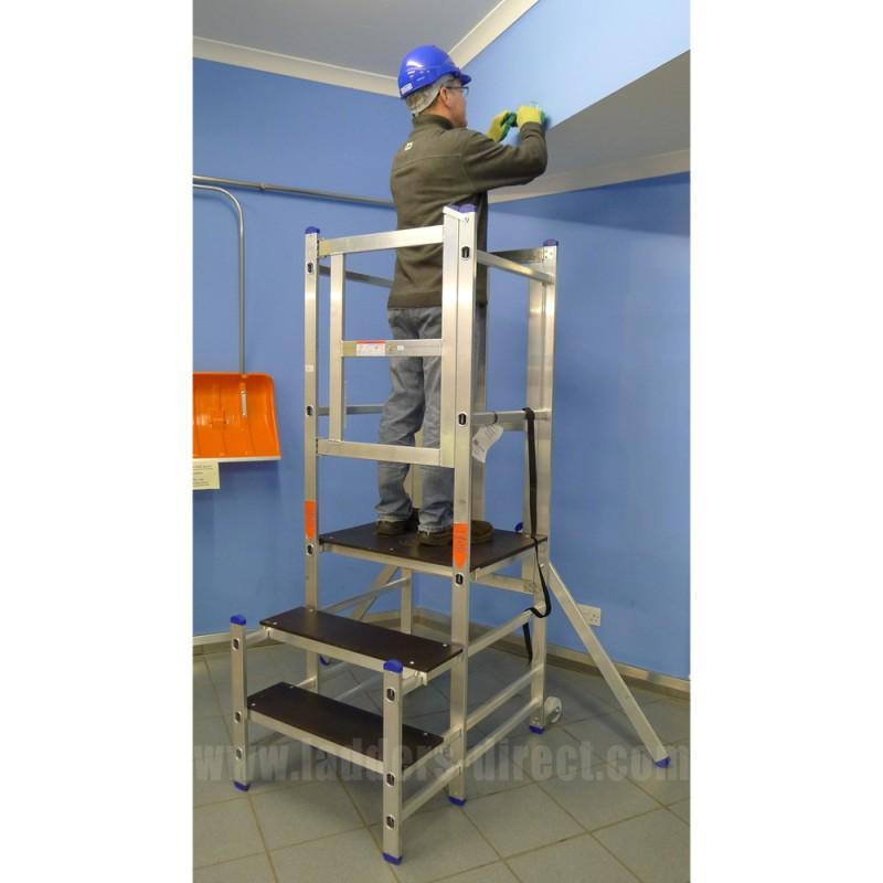 Clow Aluminium Podium Step Ladders Direct Com