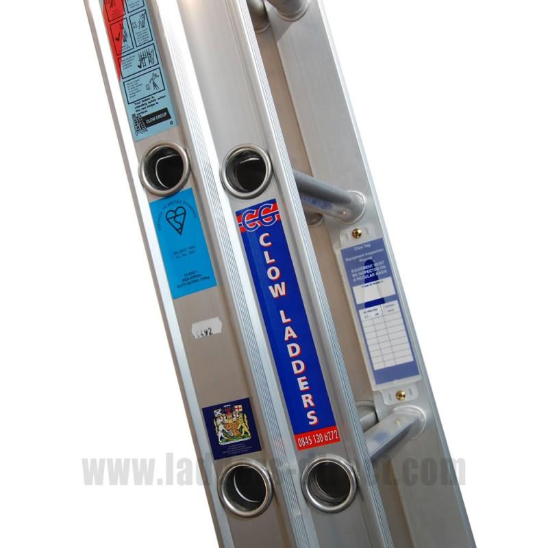 Aluminium Extension Ladder Push Up To Bs2037 Class 1