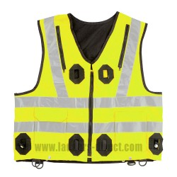 Integrated Hi-Visibility Vest - Yellow
