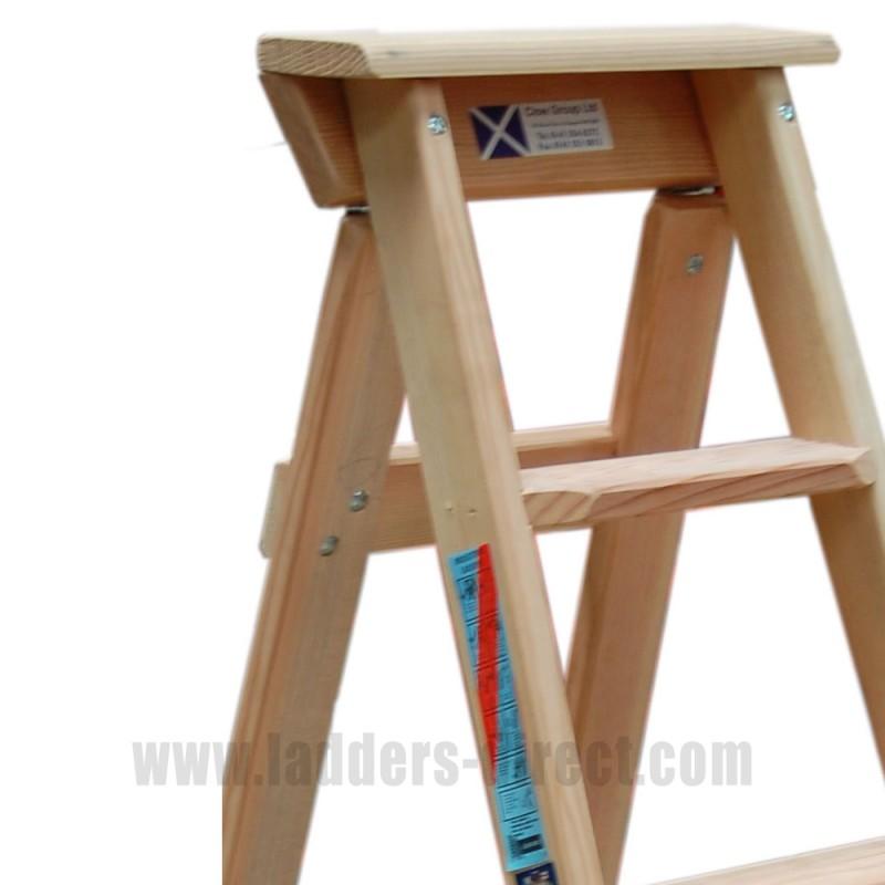 Clow Timber Tradesman Stepladder To Bs1129 Class 1