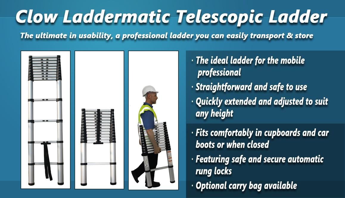 Clow Laddermatic Telescopic Ladder