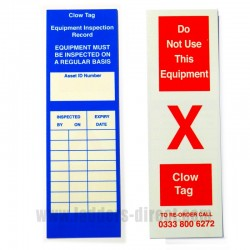 Clow Inspection Tag Holder & Insert