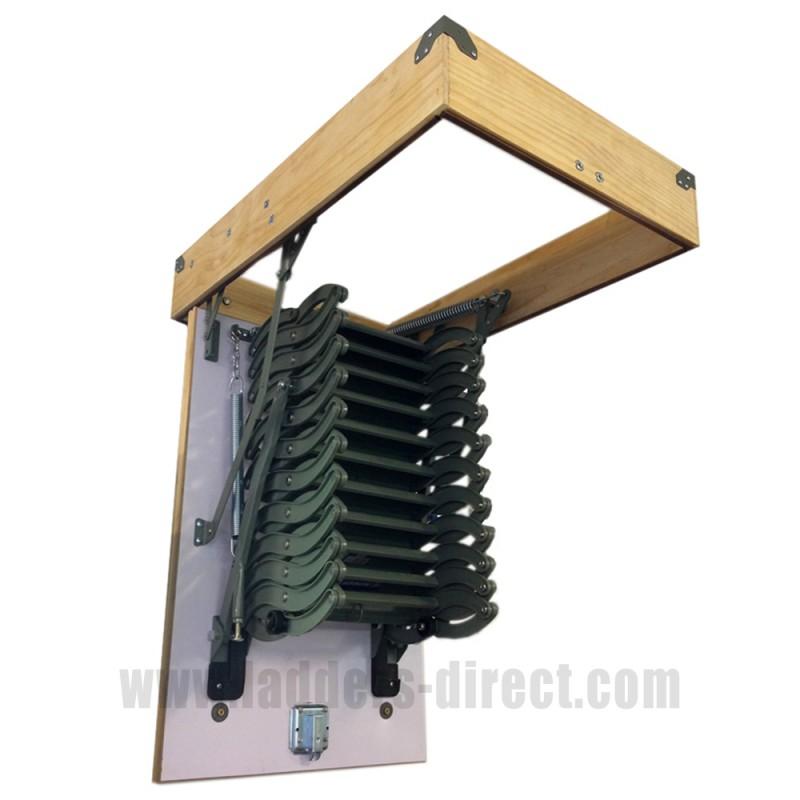 Clow Metal Scissor Loft Ladder C W Hatch Box Ladders