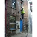 Clow Aluminium Push Up Industrial Double Extension Ladder