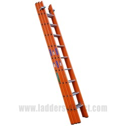 Aluglas Glassfibre Extension Ladder (Push Up) to BS EN131 triple section
