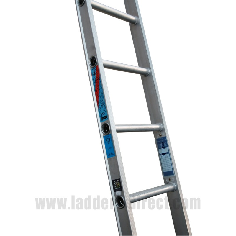 Clow Aluminium Ladder Single To Bs2037 Class 1 Ladders