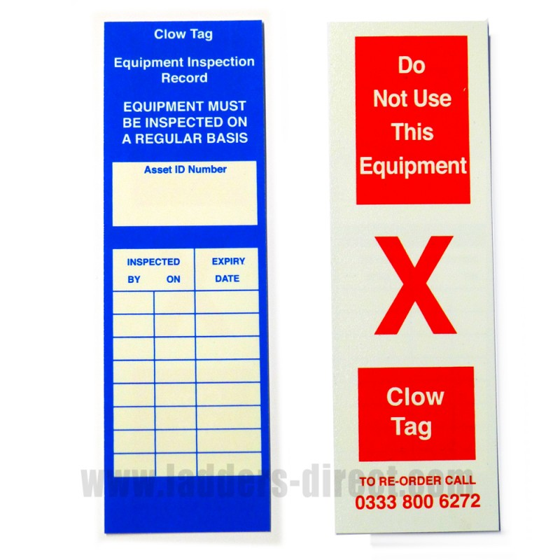 Clow Inspection Tag Insert Ladders Direct Com