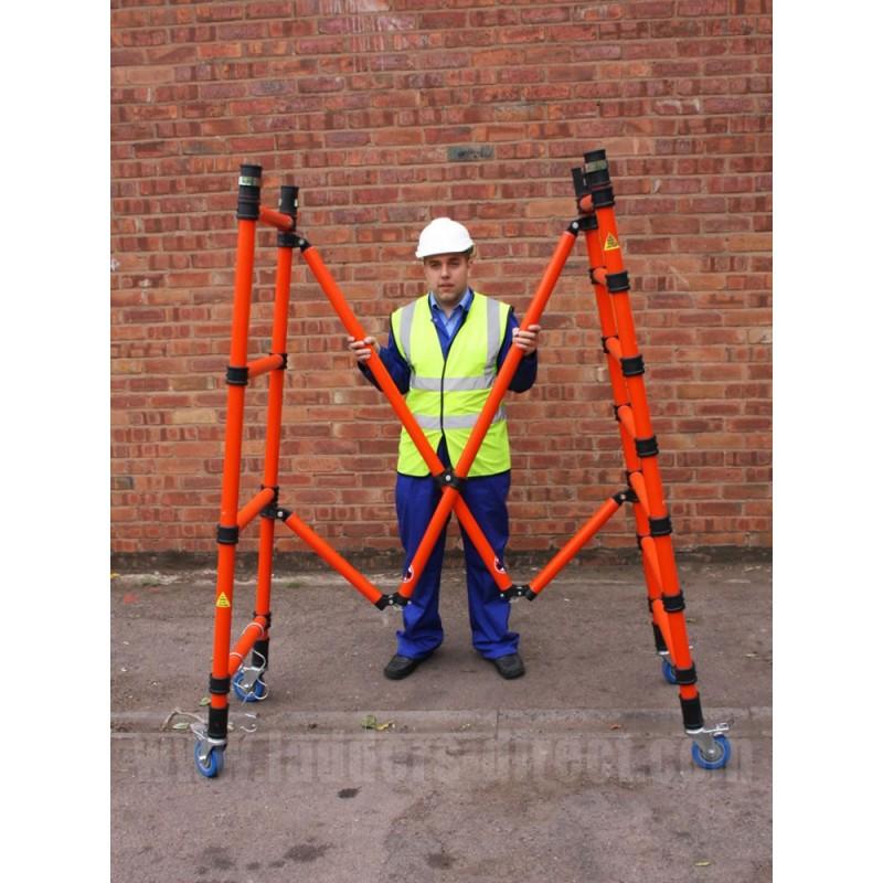 Clow Grp Folscaf Mobile Folding Scaffold Ladders