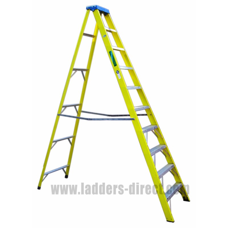 Clow Superglas Glassfibre Stepladder To En131 Ladders