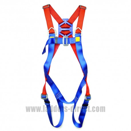Clow CEP40 Safety Harness - close up view of buckles and webbing straps