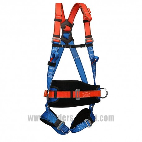 Clow CEP60 Safety Harness close up view of buckles and webbing