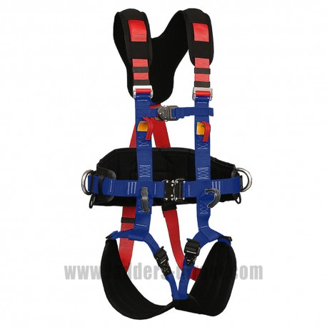 Clow CEP81 Full Body Harness close up view buckles and webbing