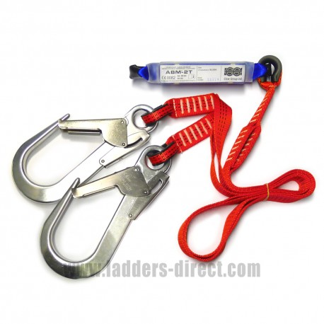 Clow Energy Absorber with Double Webbing Lanyard and Snap Hook