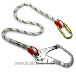 1m Rope Lanyard with Snap Hook and Carabiner