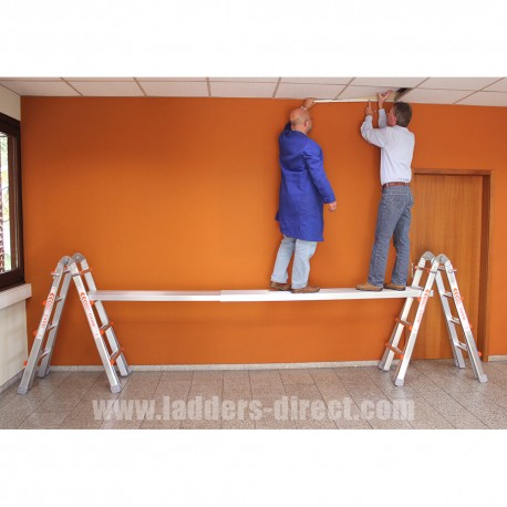 Telescopic Platform for Waku Ladders