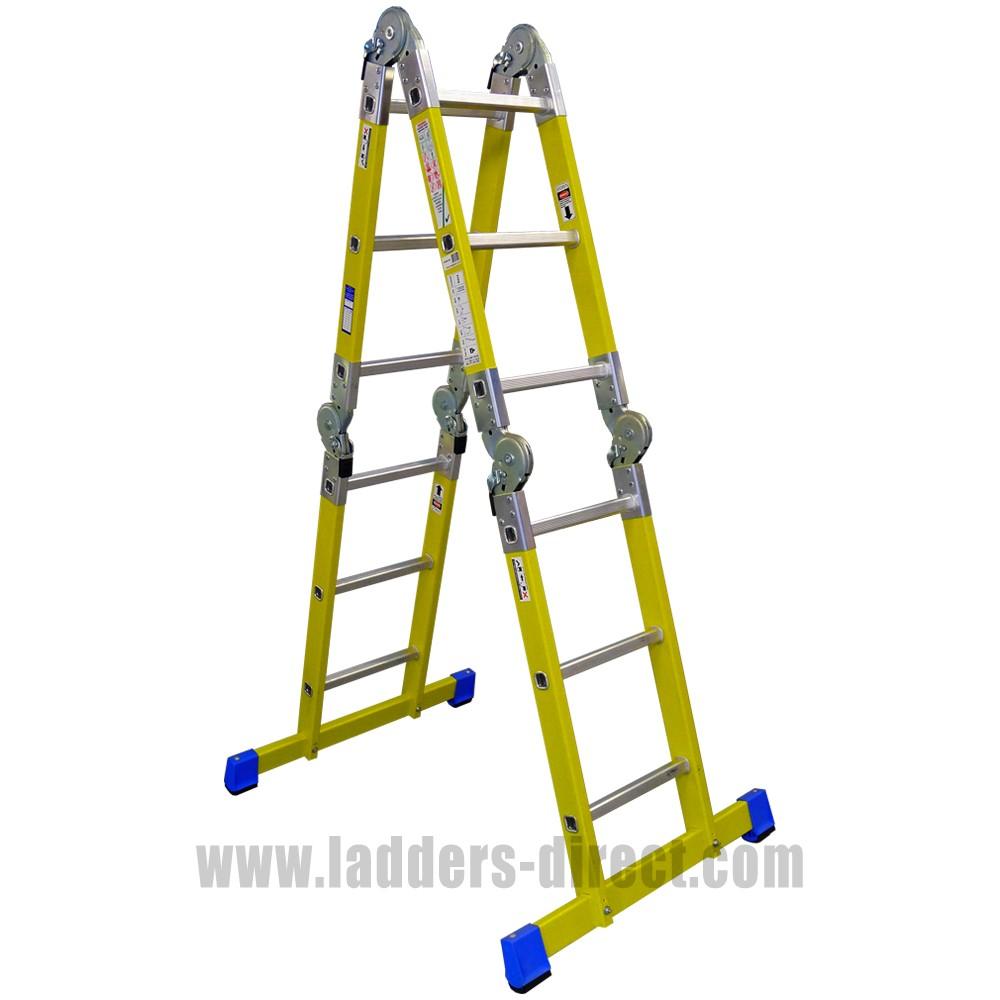 Clow Multi-Purpose Folding Telescopic Staircase Ladder to EN131