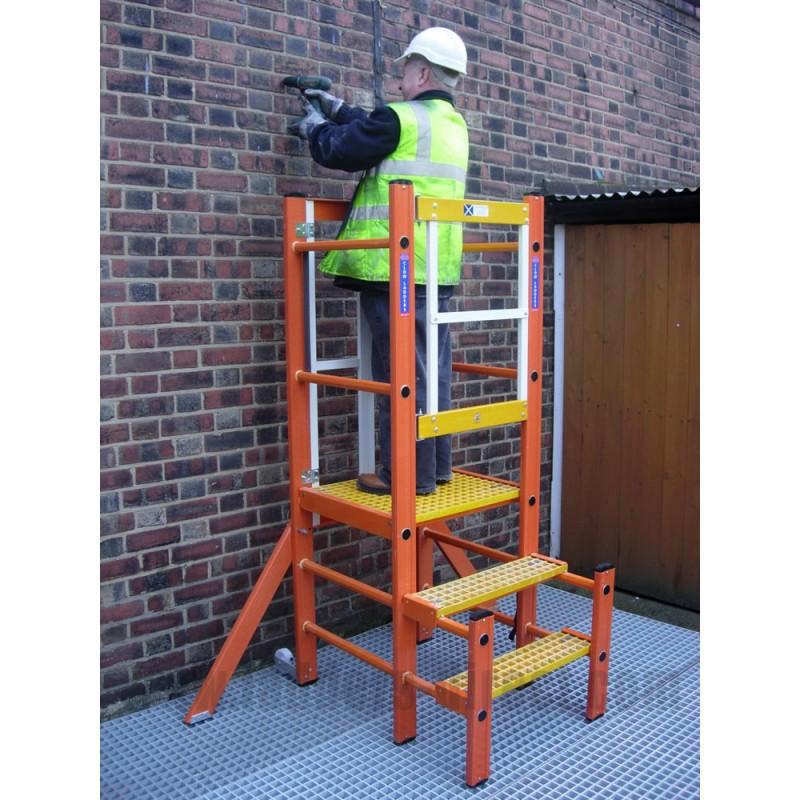 Clow Glassfibre Podium Step Ladders Direct Com