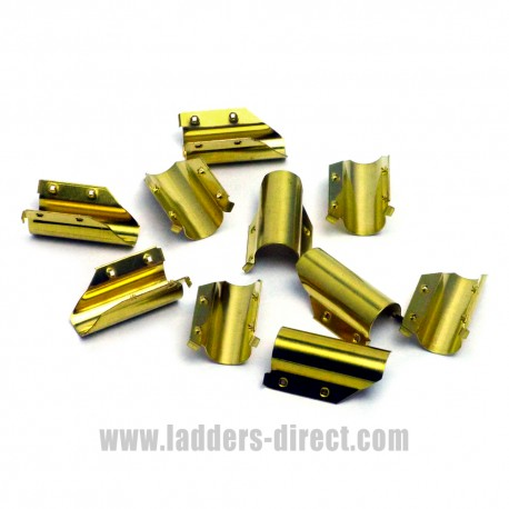 Pack of 10 Brass Squeegee Rubber End Clips