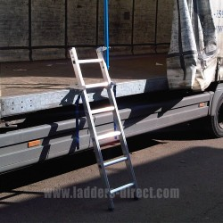 Clow Vehicle Access Ladder against lorry
