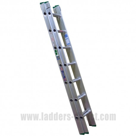END2.0 Clow 2m Aluminium Extension Ladder (Push Up) to BS EN131
