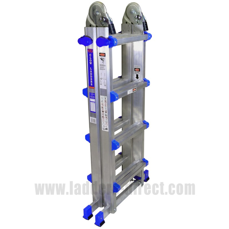 Clow En131 Professional Folding Telescopic Step Ladder