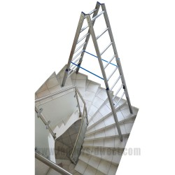 Clow Stair Ladder in use around corner