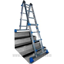 Clow EN131 Professional Folding Telescopic Step Ladder in use on stairs