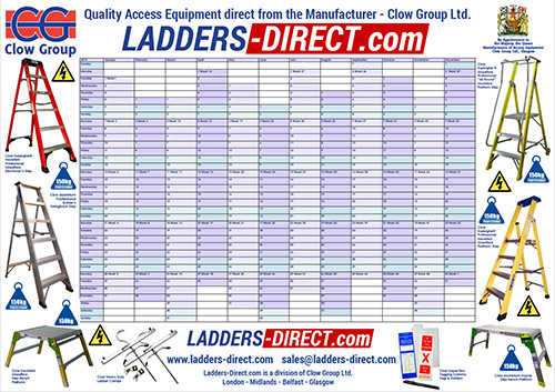 Ladders-Direct.com 2019 Wall Planner